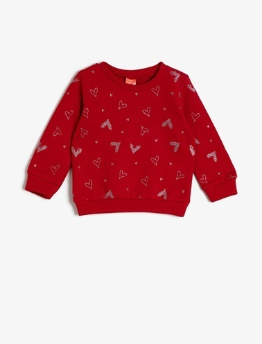 Koton Kids Baskili Sweatshirt Bordo